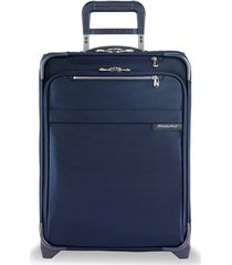 men's briggs & riley baseline 21-inch expandable wide-body upright carry-on - blue