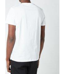 balmain men's embossed logo t-shirt - white - xxl