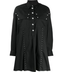 diesel studded shirt dress - black