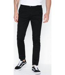river island black casual skinny tilt chino byxor black