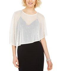 msk imitation-pearl embellished cape