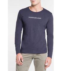 camiseta ckj ml logo basico - marinho - gg