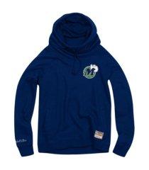 mitchell & ness women's dallas mavericks funnel neck fleece hoodie