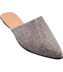 mule sapatilha gliter clássico feminino - feminino