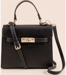 women's lani mini structured satchel in cognac by francesca's - size: one size