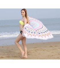 large-microfiber-round-beach-towel-shawl-150cm-diameter-with-tassels-mandala-rou