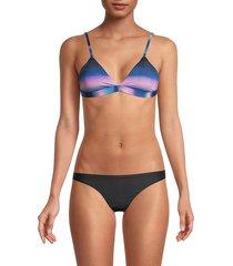 petal and sea by pq women's print bikini top - skyline - size m