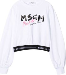 msgm white sweatshirt