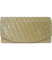 bolsa bag dreams clutch para festa dourada - tricae