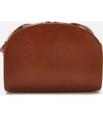 a.p.c. women's mini demi-lune crossbody bag - tan