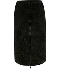 iceberg back zip mid-length skirt