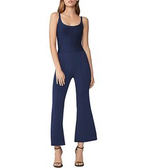 cropped flare-leg jumpsuit