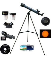 cassini 600mm x 50mm day and night refractor telescope kit with solar filter cap