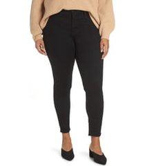 plus size women's nydj ami high rise super skinny jeans, size 28w - black