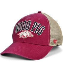 '47 brand arkansas razorbacks outland trucker cap
