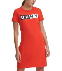 dkny sport logo t-shirt dress
