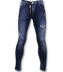 skinny jeans true rise stoere jeans paint drops skinny fit