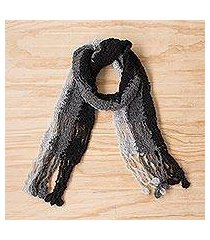 alpaca blend scarf, 'fashionable style' (peru)