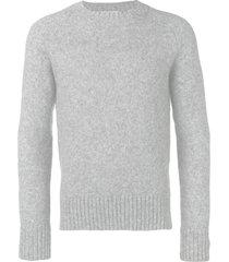 ami crew neck raglan sleeves sweater - grey