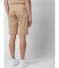 polo ralph lauren men's liquid cotton printed slim shorts - vintage khaki - xl