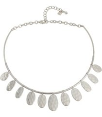 "robert lee morris soho disc collar necklace, 16"" + 2"" extender"