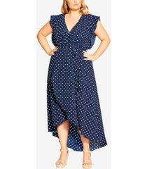 plus size fresh spot maxi dress