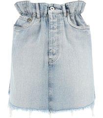 iconic denim paper bag mini skirt