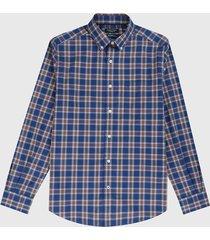 camisa azul-rojo-blanco nautica