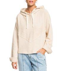 women's roxy beach honey hoodie, size medium - beige