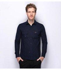 camisa social teodoro lisa algodão e linho moderna masculina