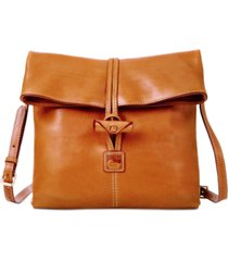dooney & bourke florentine leather toggle crossbody bag