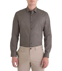 camisa business casual estampada slim fit 77019