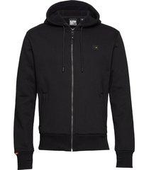 trekker fleece zip hood hoodie trui zwart superdry