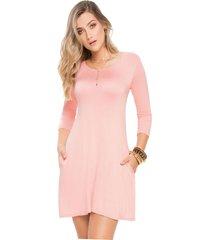 vestido corto para mujer palo de rosa mp