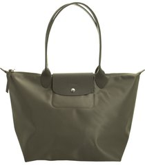 longchamp le pliage néo shoulder bag l taupe