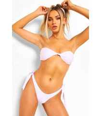 essentials geknoopte bandeau bikini top, wit