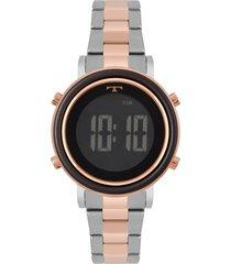 relógio technos fashion feminino bj3059ab5p bicolor