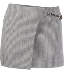 1017 alyx 9sm pinstripe print skirt - grey