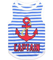 parisian pet captain dog t-shirt