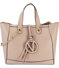 valentino by mario valentino women's sophie leather shoulder bag - tan