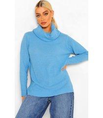 lichte trui met waterval hals, bright blue