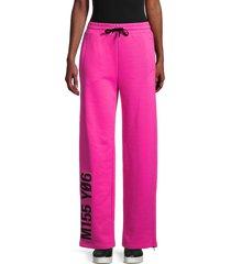 redvalentino women's graphic jersey sweatpants - magenta - size s
