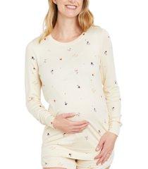 motherhood maternity printed maternity sweatshirt