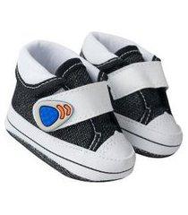 tênis bebê style jeans preto (p) - baby soffete - tamanho p - preto