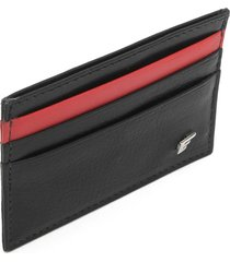porta-cartão ellus recortes preto/vermelho - kanui