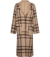 viamas 2in1 wool coat wollen jas lange jas bruin vila