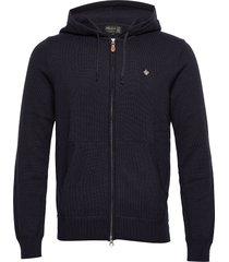 pierrick zip hood hoodie trui blauw morris