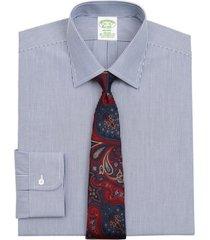 camisa stretch milano slim-fit azul brooks brothers