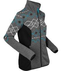 giacca in pile stampata (grigio) - bpc bonprix collection