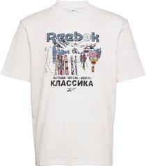 cl intl tee north t-shirts short-sleeved vit reebok classics